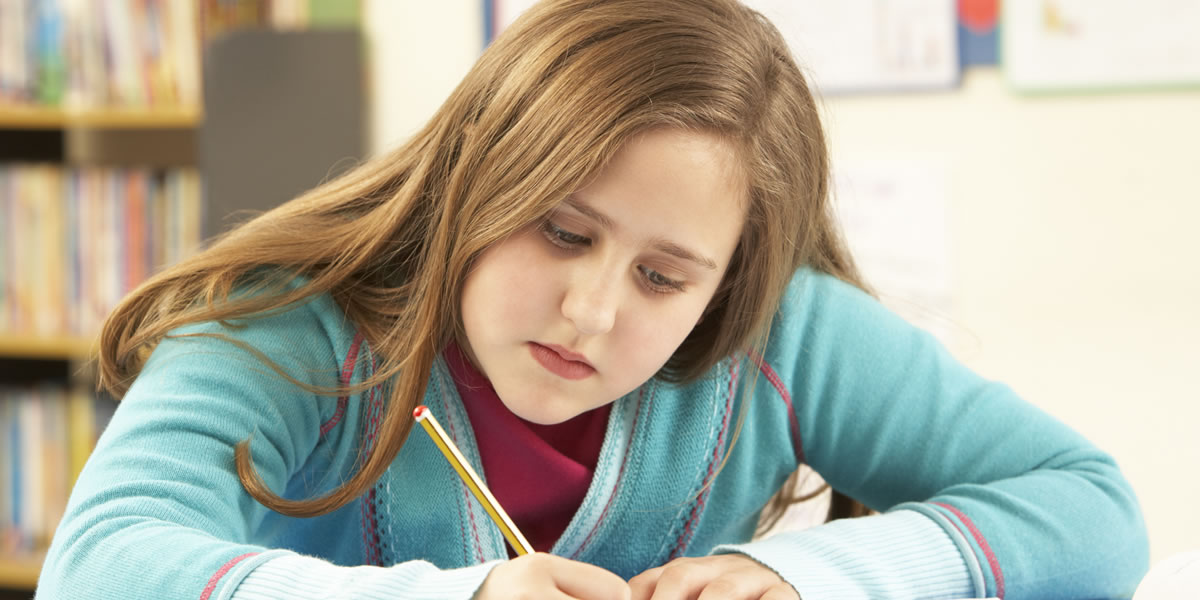 School Children Reading and Learning 8 to 11 years