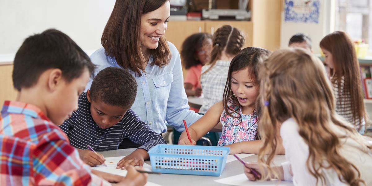 School Class with teacher