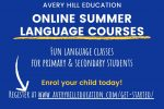 Avery Hill Education Online Summer Language Courses 150x100