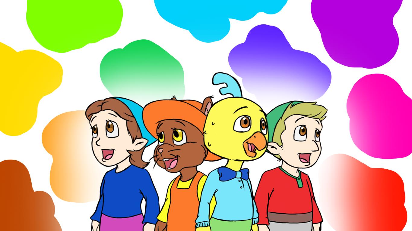 Colour Bg Children